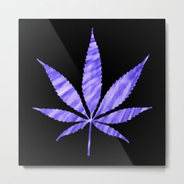 Weed : High Times Purple Blue Metal Print