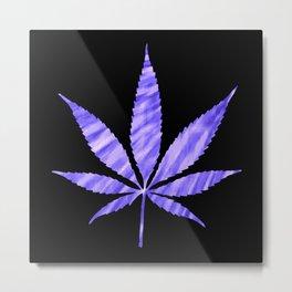Weed : High Times Purple Blue Metal Print