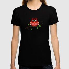 Retro owl vector T-shirt