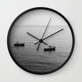Riomaggiore Boats Wall Clock