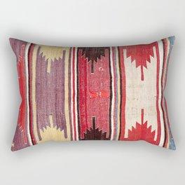 Nevsehir Cappadocian Central Anatolian Kilim Print Rectangular Pillow
