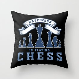 Chess, Chess Knight, Chess Pawn Throw Pillow