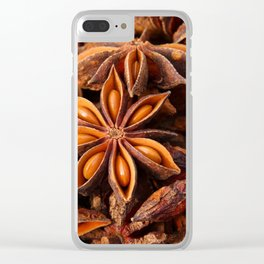 Star Anise Clear iPhone Case