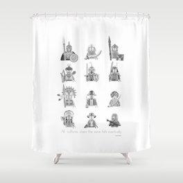 All Warriors Shower Curtain