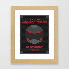 Krimzon Guard Propaganda Framed Art Print