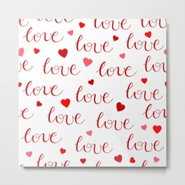 Valentine's Day LOVE Metal Print