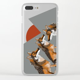 Wolves of the World: Iberian wolf (GREFA) Clear iPhone Case