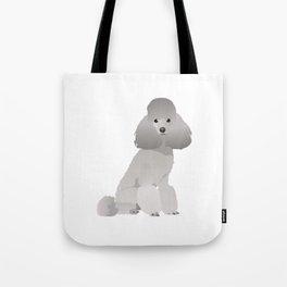 Grey Poodle Dog Tote Bag