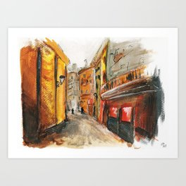 City Street Art Print