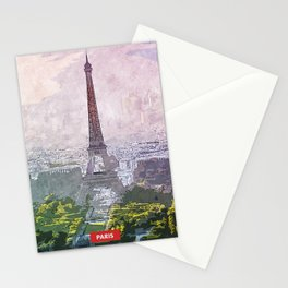 Paris city skyline Stationery Cards
