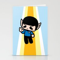spock Stationery Cards featuring Spock by Ziqi
