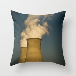 Toxic Towers Throw Pillow