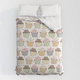 Cupcake Love Pattern -Food Pattern Comforters