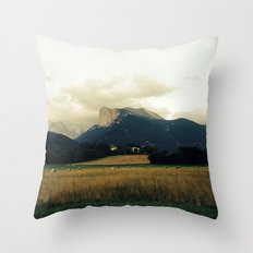 Harvest before rain Throw Pillow
