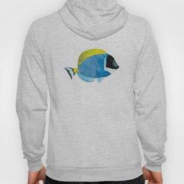 Geometric Abstract Powder Blue Tang Fish Hoody
