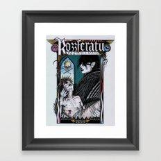 Rozzferatu - Fanart for Rozz Williams Framed Art Print