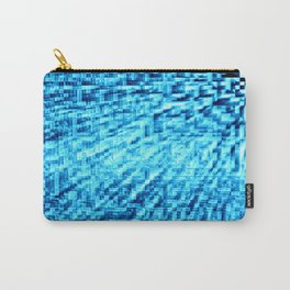 TURquoise Blue Pixel Wind Carry-All Pouch