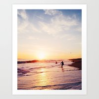Newport Beach at Sunset Art Print
