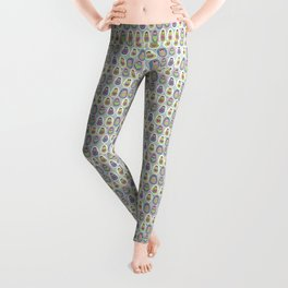 matryoshka with heart Leggings