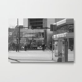 Downtown Calgary at lunch time Metal Print