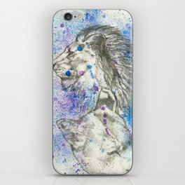 Lion & Lioness  iPhone Skin