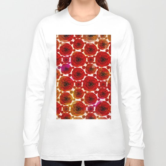Abstract poppy floral pattern Long Sleeve T-shirt