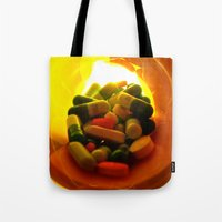 pills Tote Bags featuring Pills by Jerel Cardona