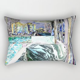 Balcony With A View Rectangular Pillow