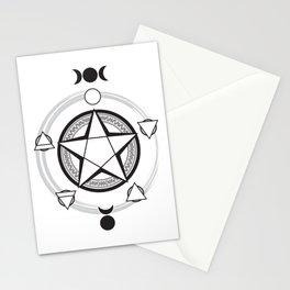 Elemental Pentagram Stationery Cards