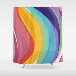 Fig. 045 Colorful Swirls Shower Curtain
