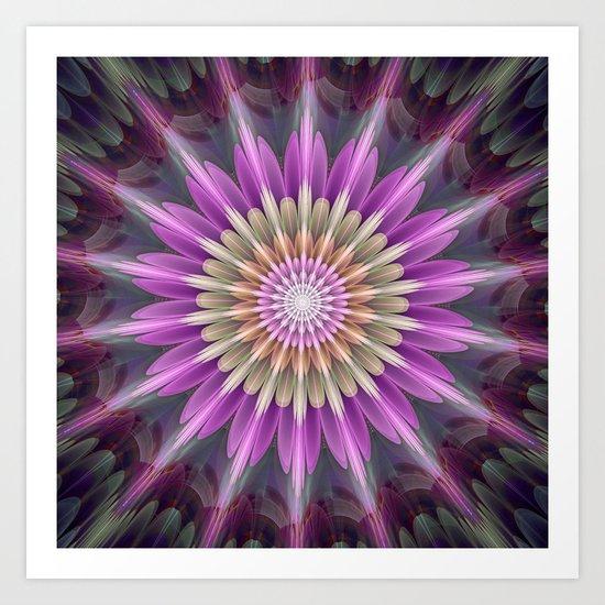 Bright shining fantasy flower Art Print