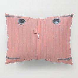 Red Port Hole Door Pillow Sham
