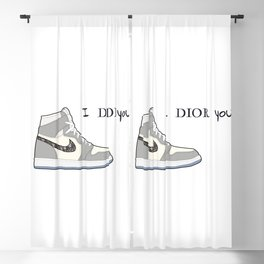 Jordan 1 Grey Valentine's day - I adore you Blackout Curtain
