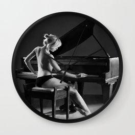 PIANO GIRL Wall Clock
