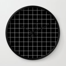 Black White Grid Wall Clock