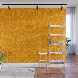 Orange and yellow lozenge pattern Wall Mural