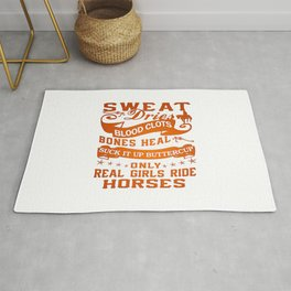 Real Girls Ride Horses Rug