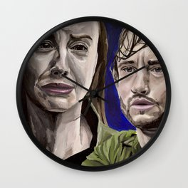 Abigail and Will, acrylic painting Wall Clock