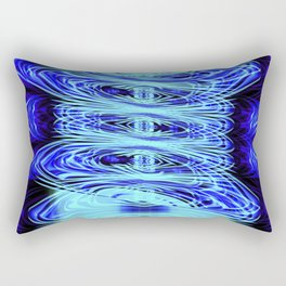 Moody Blues - Abstract Fusion Collection Rectangular Pillow