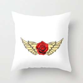 Rock N' Roll Rebel Queen Pure Rock Wanted And Will tee design for you! Guns and roses are in again!  Throw Pillow