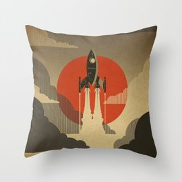 The Voyage (Grey) Throw Pillow