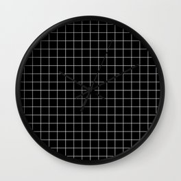 Grid Black Wall Clock