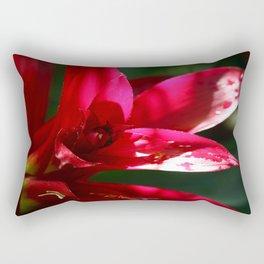 Red Bromelia Rectangular Pillow