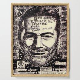 Vintage Dead kennedys United Kingdom Concert Tour Poster Serving Tray