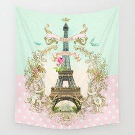 Bonjour Paris Wall Tapestry