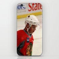 blackhawks iPhone & iPod Skins featuring jonathan toews // chicago blackhawks by Hattie Trott