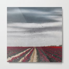 Flower Horizon Metal Print