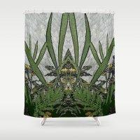 plants Shower Curtains featuring Plants by Gun Alfsdotter