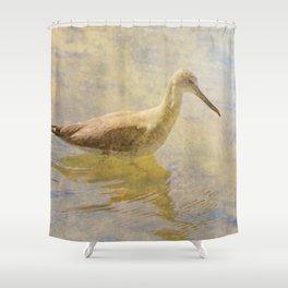 A Silent Wader Shower Curtain
