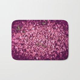 Pretty Pink Flowers Bath Mat